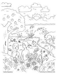 Download Coloring Pages Creation Bible Page Free Book