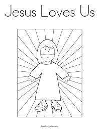 Absolutely Design Jesus Loves Me Coloring Pages Us Page