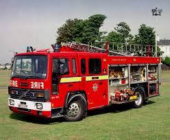 100 Red Fire Trucks Big Engine In Service With The London Brigade