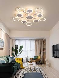 wohnzimmer decke licht moderne led beleuchtung nordic