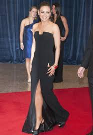 new versace black long dress mila kunis wore on the red carpet for