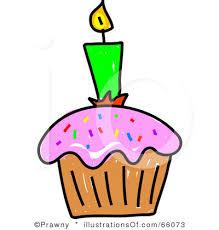 Birthday cupcake clip art RF Cupcake Clipart