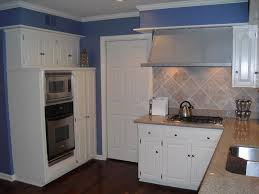 gray kitchen cabinets light tiles painted blue cabinet stain