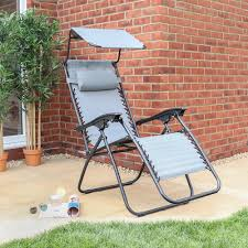 Gravity Sun Lounger Chair With Canopy