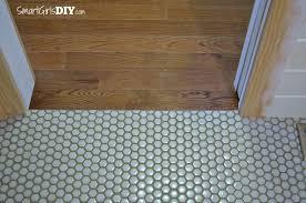 Floor Tile Spacers And Levelers by Guest Bathroom 7 Diy Hex Tile Floor