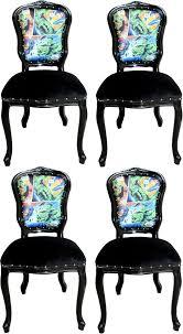 casa padrino luxus barock esszimmer set comic mehrfarbig schwarz 55 x 54 x h 103 cm 4 handgefertigte esszimmerstühle designer stühle barock