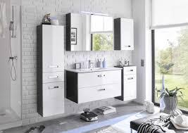 badezimmer set manhattan 5 tlg badezimmer badmöbel badezimmermöbel weiß grau