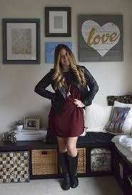 Cupcakes Cashmere Maroon Dress A Leather Jacket