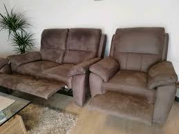 wohnzimmer sofa polstergarnitur 3 teilig mit relaxfunktion
