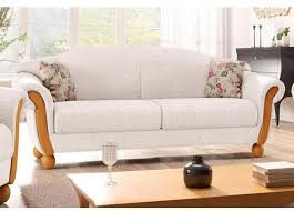 home affaire 3 sitzer beige sofas wohnzimmer landhaus charme
