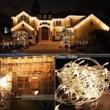 1000 Warm White Led Icicle Christmas Lights