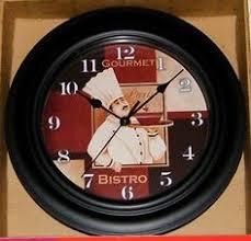 French FAT CHEF Gourmet Paris Bistro Kitchen Decor Wall Clock
