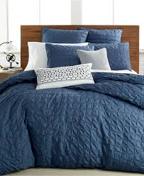 Macys Bedding Collections by Bar Iii Box Pleat Indigo Bedding Collection Bedding Collections