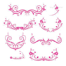 Pink Swirl Border Clipart 1