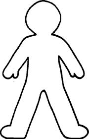Kid Body Outline Clipart