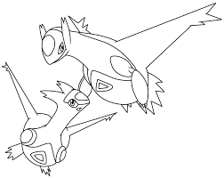Legendary Pokemon Coloring Pages Latios
