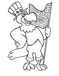 Eagle Hold On American Flag Day Coloring Pages