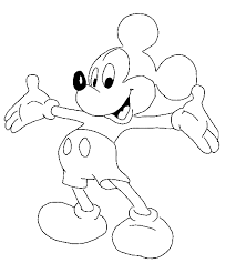 Mickey Mouse Coloring Pages As A Suitor
