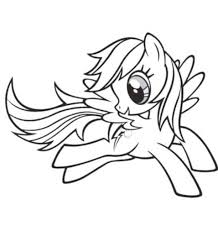 Coloring Pages Rainbow Dash Fly Sheet Cute My Little Pony