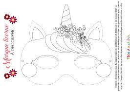 Masque De Licorne à Colorier