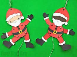 Santa Star Cookies Paper Puppet