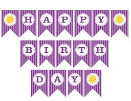 free printable birthday banners Cute And beautiful Maginezart