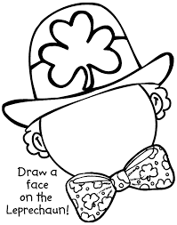 Draw A Leprechaun Face Coloring Pages