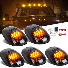 5pcs 264146BK Smoked Cab Roof Marker Lights Amber 12 LED Roof Top ... Truck Led Lights 2 Inch Round Trailer Marker Install How To Youtube 9 33v 8led Amber Side Marker Lightclearance Lamp Ailertruck 2008 F150 Leds Strobe All Around Led And W Clear Lens 25 Side Lets See Them Chicken Dodge Cummins Diesel Forum Ram Clearance Inspiration New 2018 1500 Express Dorman Cab Roof Parking 5 Piece Kit For 212 2410x Round Light Indicator Lamp Car Bus Trucklite 8946a Oval Signalstat Replacement