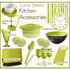 Home Decor Lime Green Kitchen Accessories