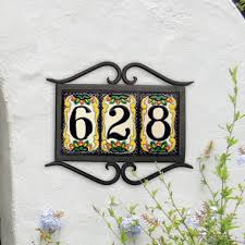 house number plaques mozaik number house and