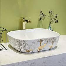 lllyzz porzellan keramik waschbecken für badezimmer