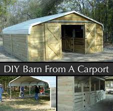 how to make a barn out of a carport by mulligan u0027s run farm
