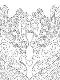 Giraffe Coloring Page You Can Print For Free