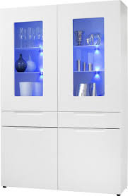 vitrine mailand groß weiß hochglanz ca 128 x 191 cm