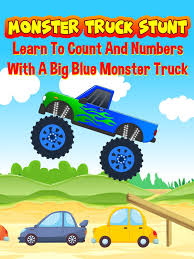 100 Big Blue Truck Amazoncom Watch Monster Stunt Learn To Count And Numbers