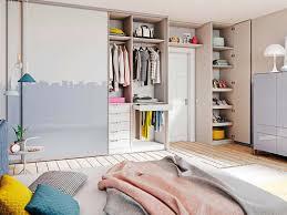 schlafzimmer einrichten bett ankleide boden beleuchtung