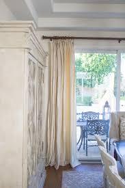Cream Silk Drapes In Elegant Dining Room
