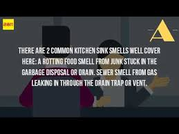 why is there a sewer smell in my kitchen sink youtube