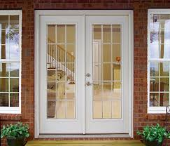 French Patio Doors Outswing by Outswing French Patio Doors With Blinds Exterior Home Depot