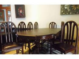 Dining Table With 8 Chairs Good Condition For Sale In Lahore