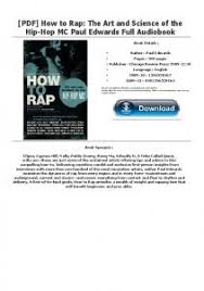 PDF How To Rap The Art And Science Of Hip Hop