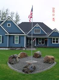 Flagpole Christmas Tree Plans by Our Front Yard With Our New Flag Pole Gardens Lush Lovely