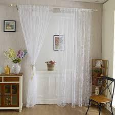 schmetterling tüll vorhang wohnzimmer schlafzimmer