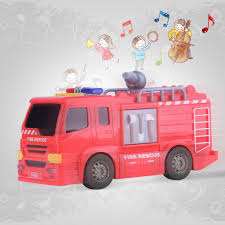 100 Pink Fire Truck Toy Rescue Mini Sensor Early Learning