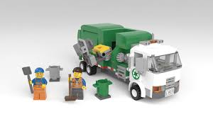 100 Lego Recycling Truck Definitely Support This LEGO CityScale Automated Garbage