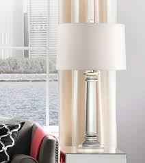 Square Crystal Lamp Finials by Vienna Full Spectrum Modern Crystal Column Table Lamp Amazon Com