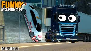 Euro Truck Simulator 2 Multiplayer Funny Moments, Idiots On The Road ...