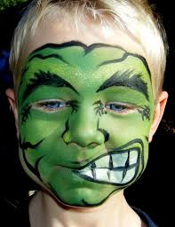 Halloween Half Mask Ideas by Pin By Jackeline Yepez On Face Painting Pinterest Hulk Face