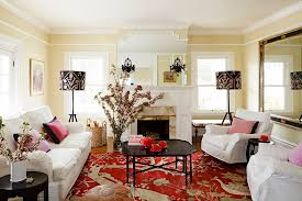 Black Grey And Red Living Room Ideas by Black Red Living Room With Traditional Design Style And Marble