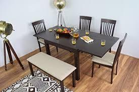 ahoc ausziehbarer esstisch und 4 stühlen mit esstisch bench